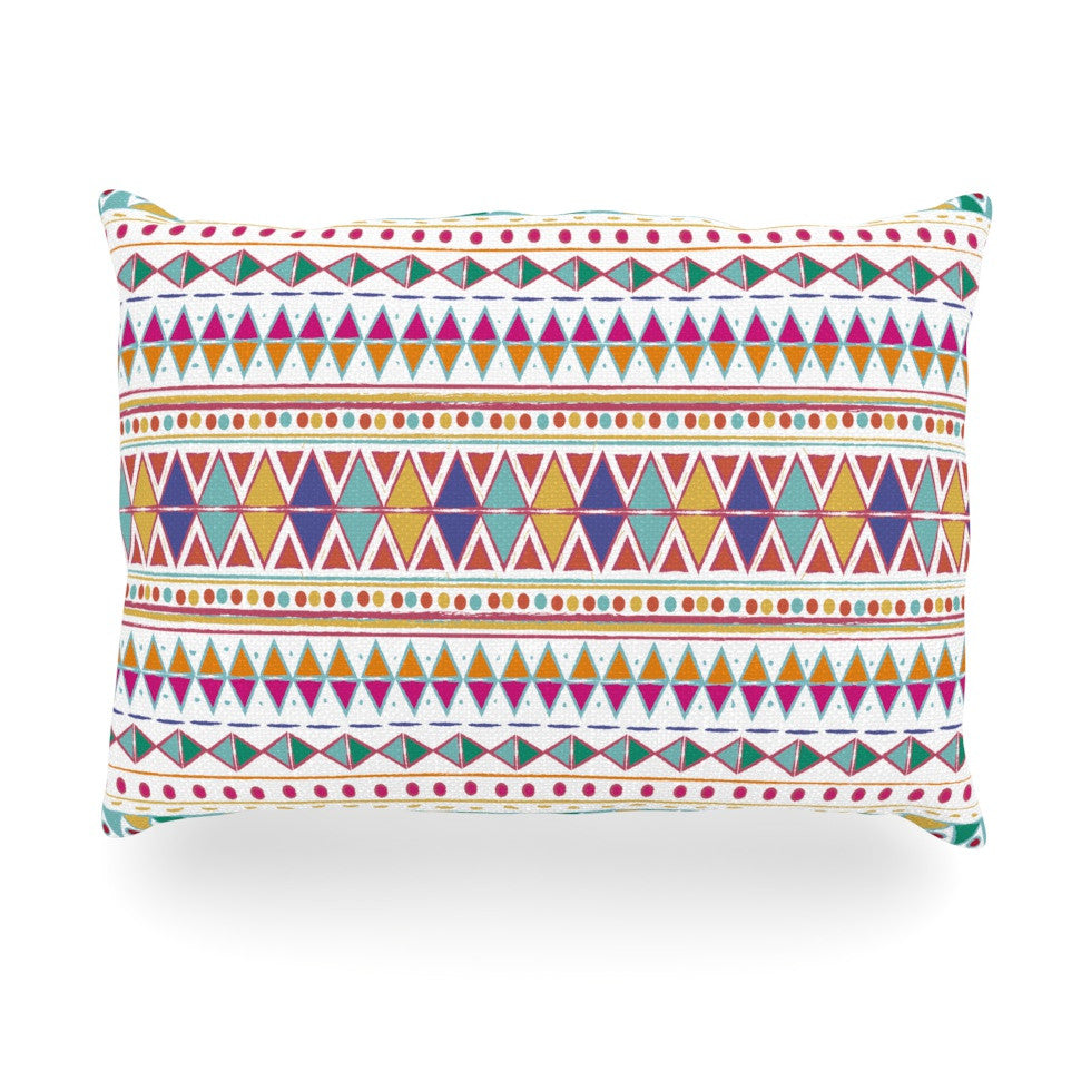 "Nika Martinez ""Native Fiesta"" Oblong Pillow - KESS InHouse"