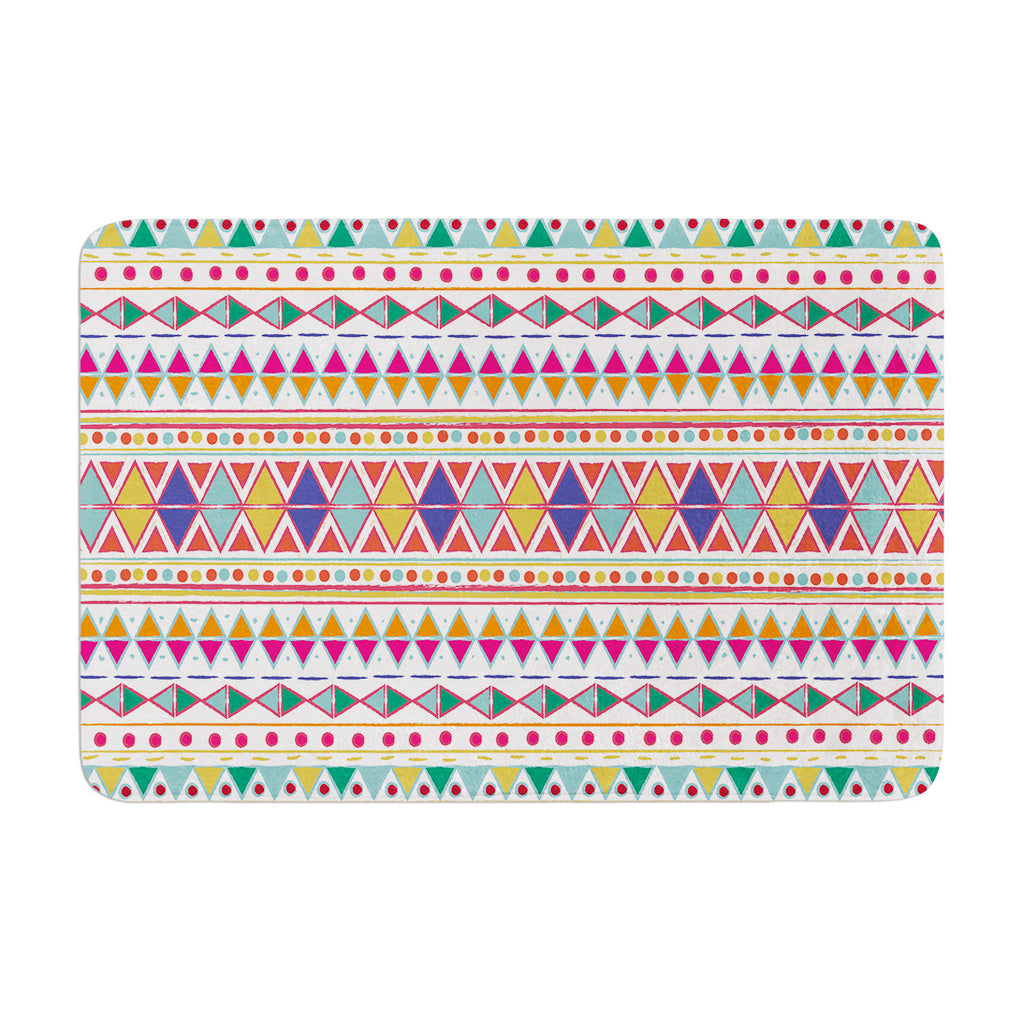 "Nika Martinez ""Native Fiesta"" Memory Foam Bath Mat - KESS InHouse"
