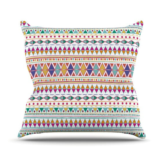 "Nika Martinez ""Native Fiesta"" Outdoor Throw Pillow - KESS InHouse  - 1"