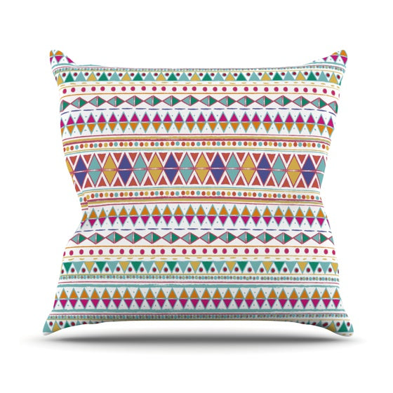 "Nika Martinez ""Native Fiesta"" Throw Pillow - KESS InHouse  - 1"
