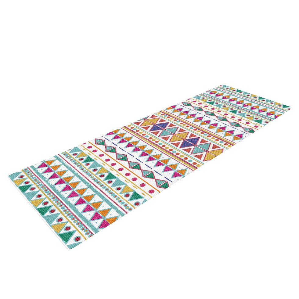 "Nika Martinez ""Native Fiesta"" Yoga Mat - KESS InHouse  - 1"