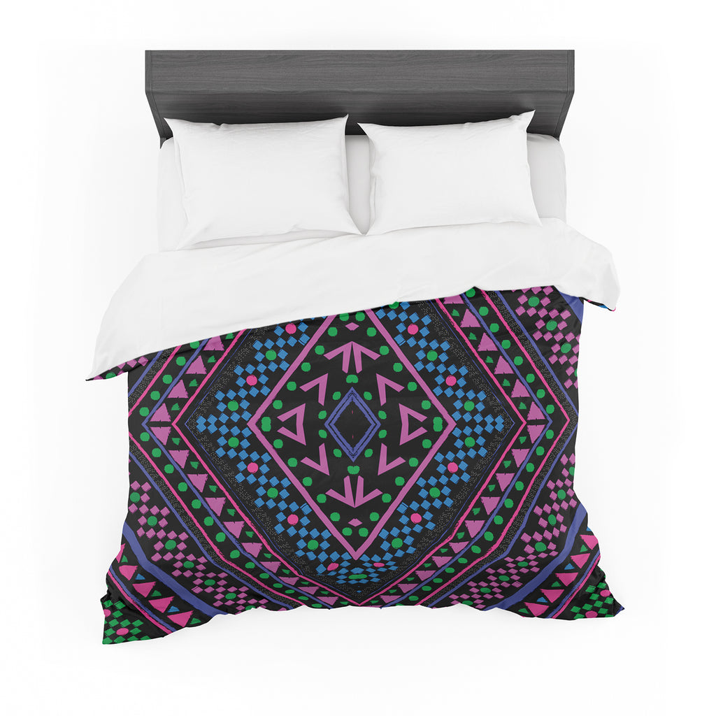 "Nika Martinez ""Neon Pattern"" Cotton Duvet"