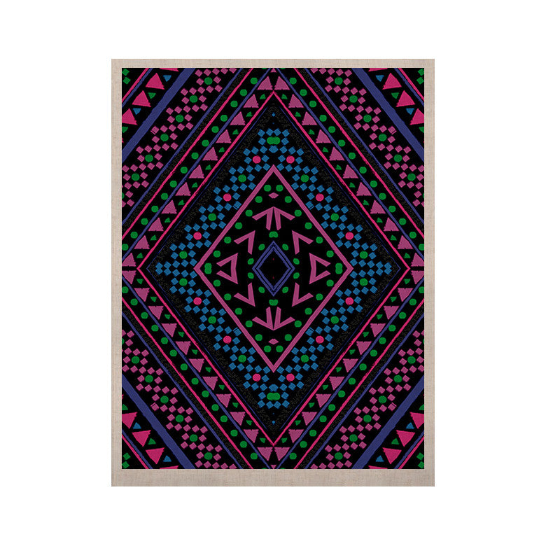 "Nika Martinez ""Neon Pattern"" KESS Naturals Canvas (Frame not Included) - KESS InHouse  - 1"
