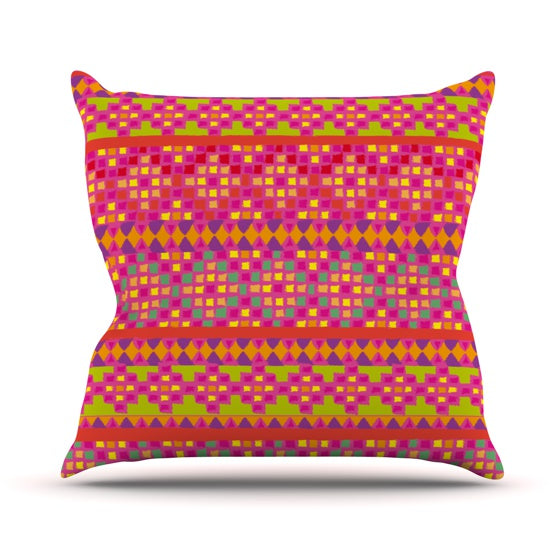 "Nika Martinez ""Mexicalli"" Throw Pillow - KESS InHouse  - 1"
