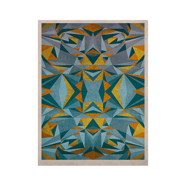 "Nika Martinez ""Abstraction Blue & Gold"" KESS Naturals Canvas (Frame not Included) - KESS InHouse  - 1"