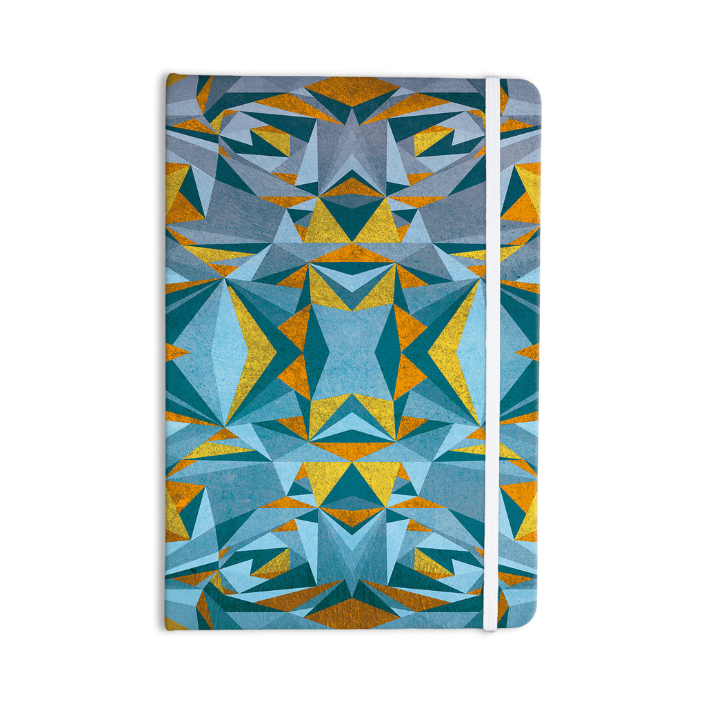 "Nika Martinez ""Abstraction Blue & Gold"" Everything Notebook - KESS InHouse  - 1"
