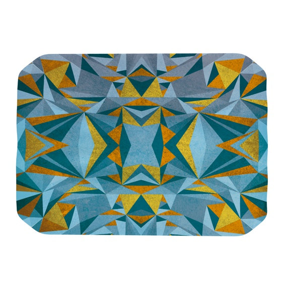 "Nika Martinez ""Abstraction Blue & Gold"" Place Mat - KESS InHouse"