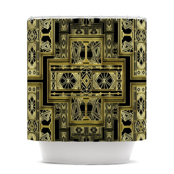"Nika Martinez ""Golden Art Deco"" Shower Curtain - KESS InHouse"