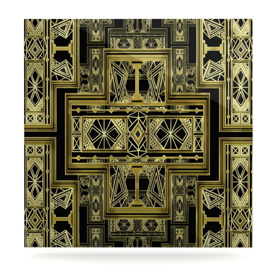 "Nika Martinez ""Golden Art Deco"" Luxe Square Panel - KESS InHouse  - 1"