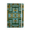 "Nika Martinez ""Golden Art Deco Green & Blue"" Everything Notebook - KESS InHouse  - 1"