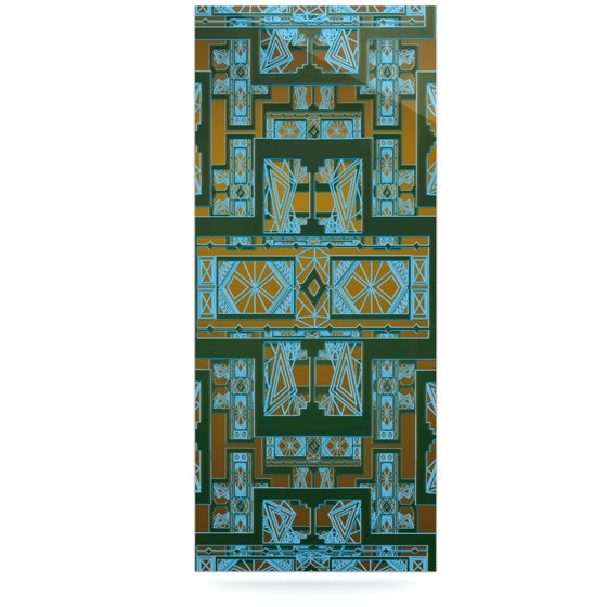 "Nika Martinez ""Golden Art Deco Green & Blue"" Luxe Rectangle Panel - KESS InHouse  - 1"