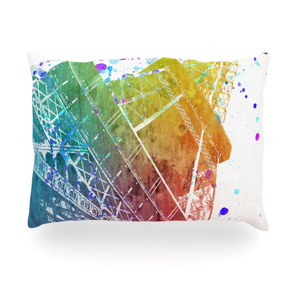"Nika Martinez ""Paris Je T'aime"" Watercolor Oblong Pillow - KESS InHouse"