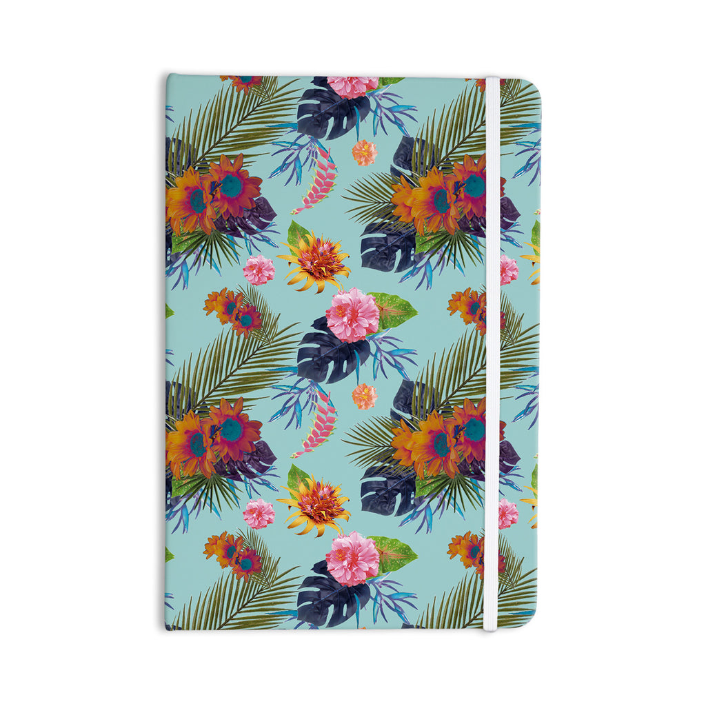 "Nika Martinez ""Tropical Floral"" Blue Flowers Everything Notebook - KESS InHouse  - 1"