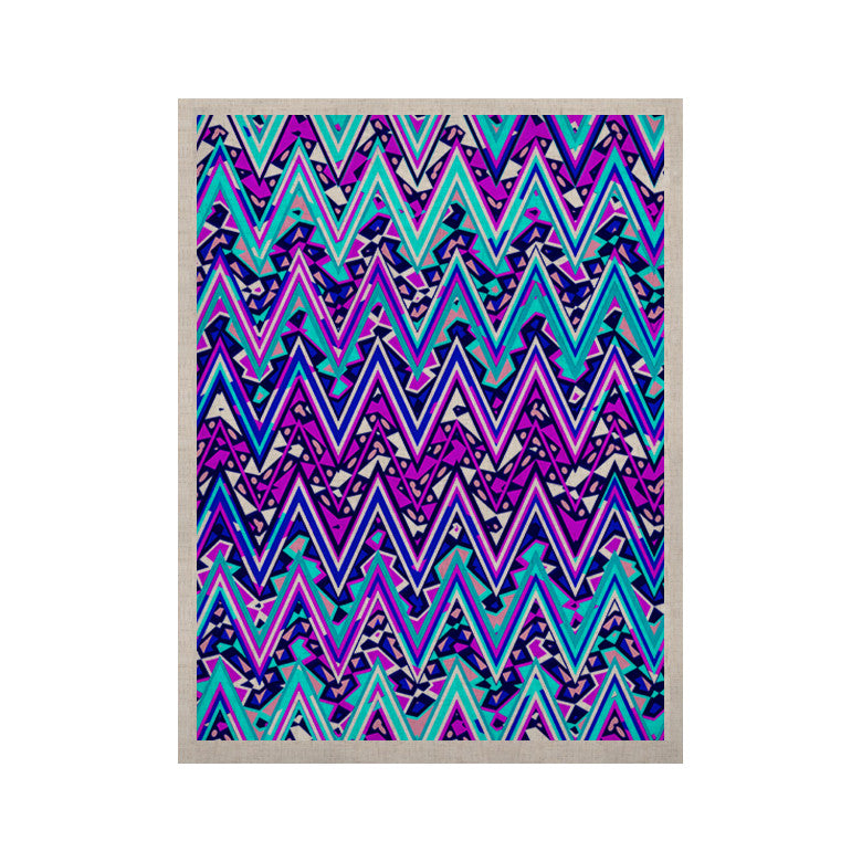 "Nika Martinez ""Blue Electric Chevron"" KESS Naturals Canvas (Frame not Included) - KESS InHouse  - 1"
