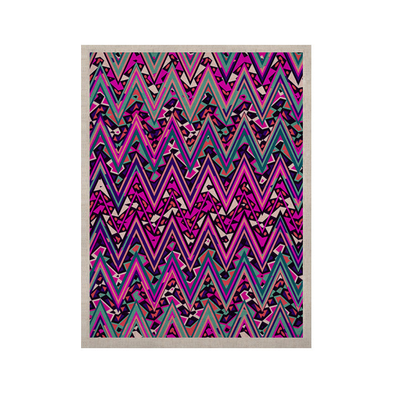 "Nika Martinez ""Pink Electric Chevron"" KESS Naturals Canvas (Frame not Included) - KESS InHouse  - 1"