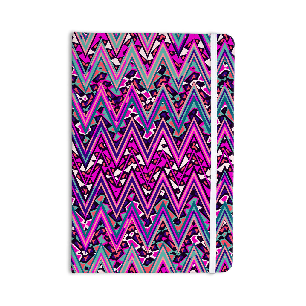 "Nika Martinez ""Pink Electric Chevron"" Everything Notebook - KESS InHouse  - 1"