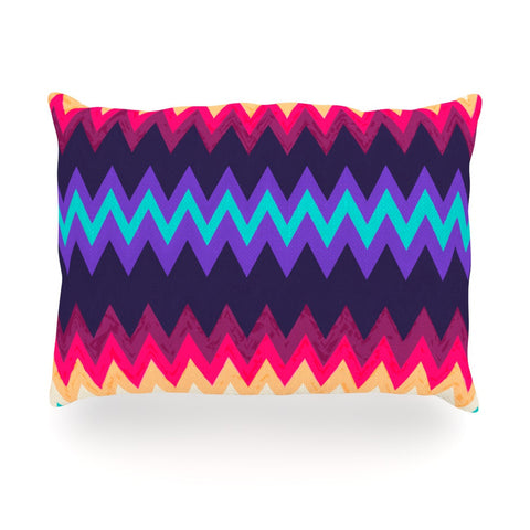 "Nika Martinez ""Surf Chevron"" Oblong Pillow - KESS InHouse"