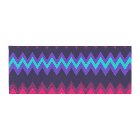 "Nika Martinez ""Surf Chevron"" Bed Runner - KESS InHouse"