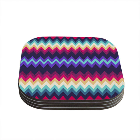 "Nika Martinez ""Surf Chevron"" Coasters (Set of 4)"