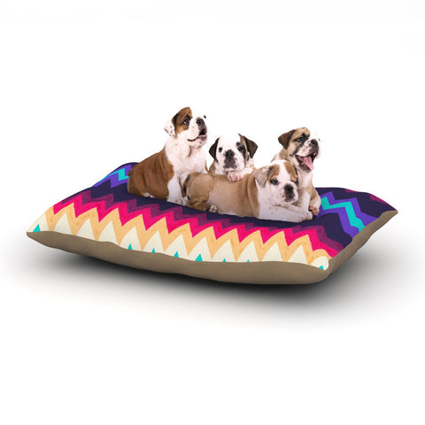 "Nika Martinez ""Surf Chevron"" Dog Bed - KESS InHouse  - 1"
