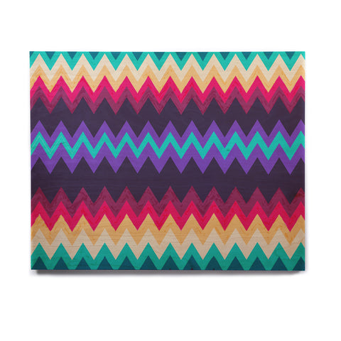 "Nika Martinez ""Surf Chevron"" Birchwood Wall Art - KESS InHouse  - 1"
