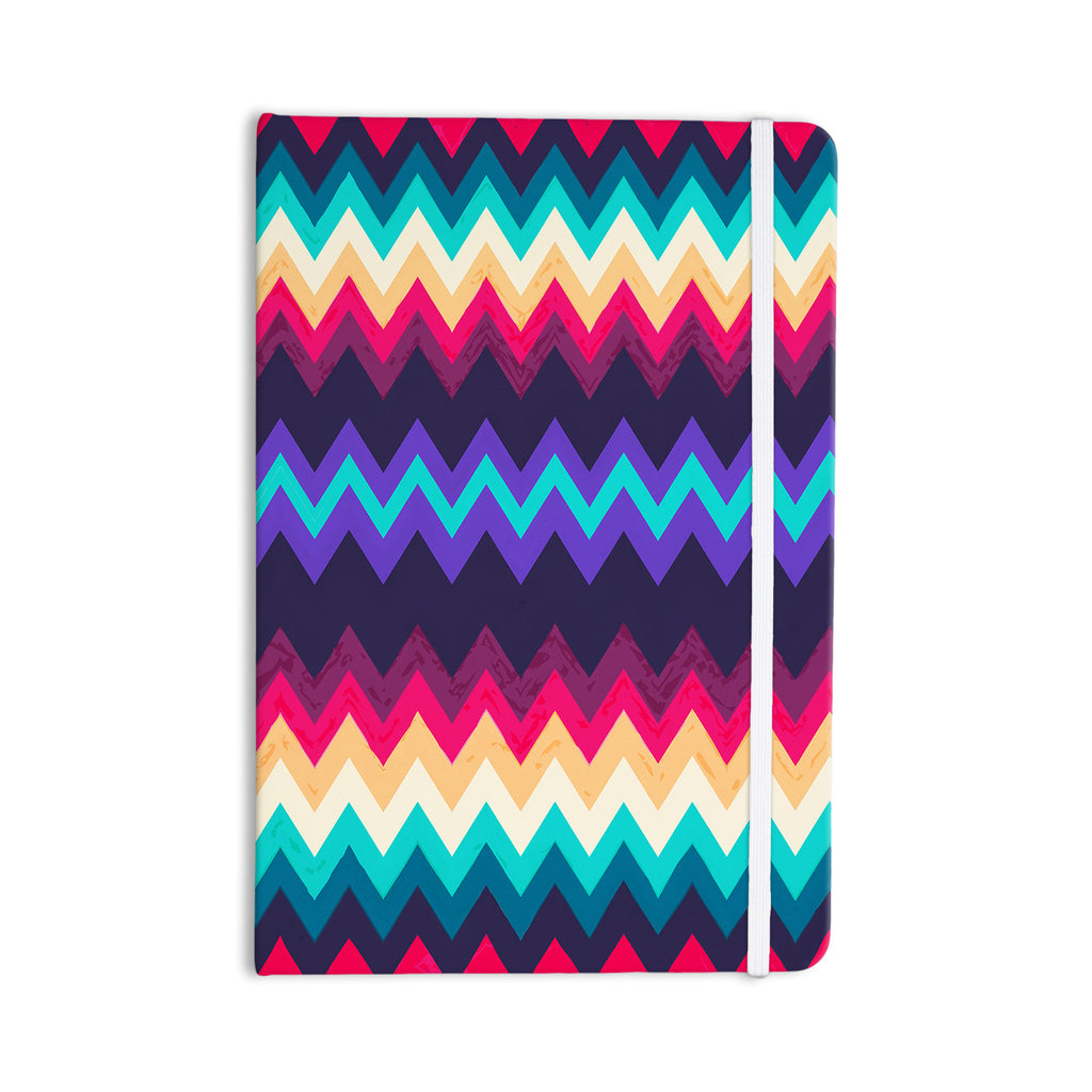 "Nika Martinez ""Surf Chevron"" Everything Notebook - KESS InHouse  - 1"