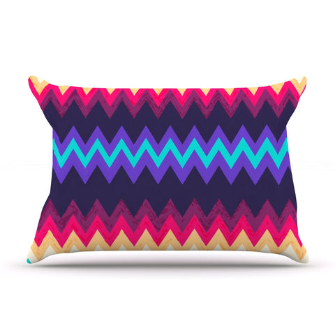 "Nika Martinez ""Surf Chevron"" Pillow Sham - KESS InHouse"