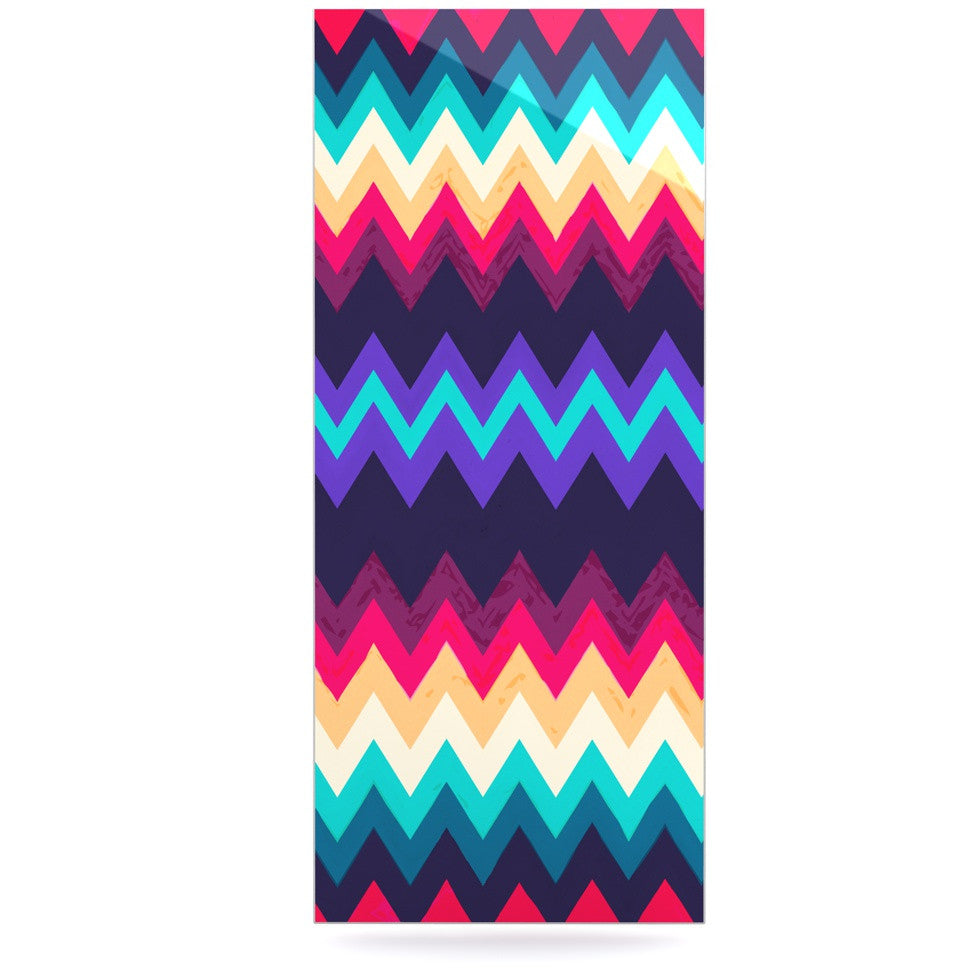 "Nika Martinez ""Surf Chevron"" Luxe Rectangle Panel - KESS InHouse  - 1"