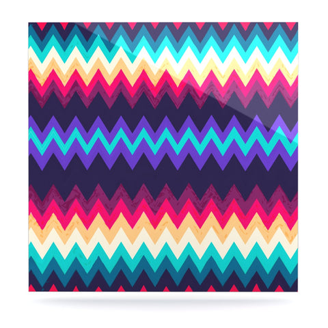 "Nika Martinez ""Surf Chevron"" Luxe Square Panel - KESS InHouse  - 1"