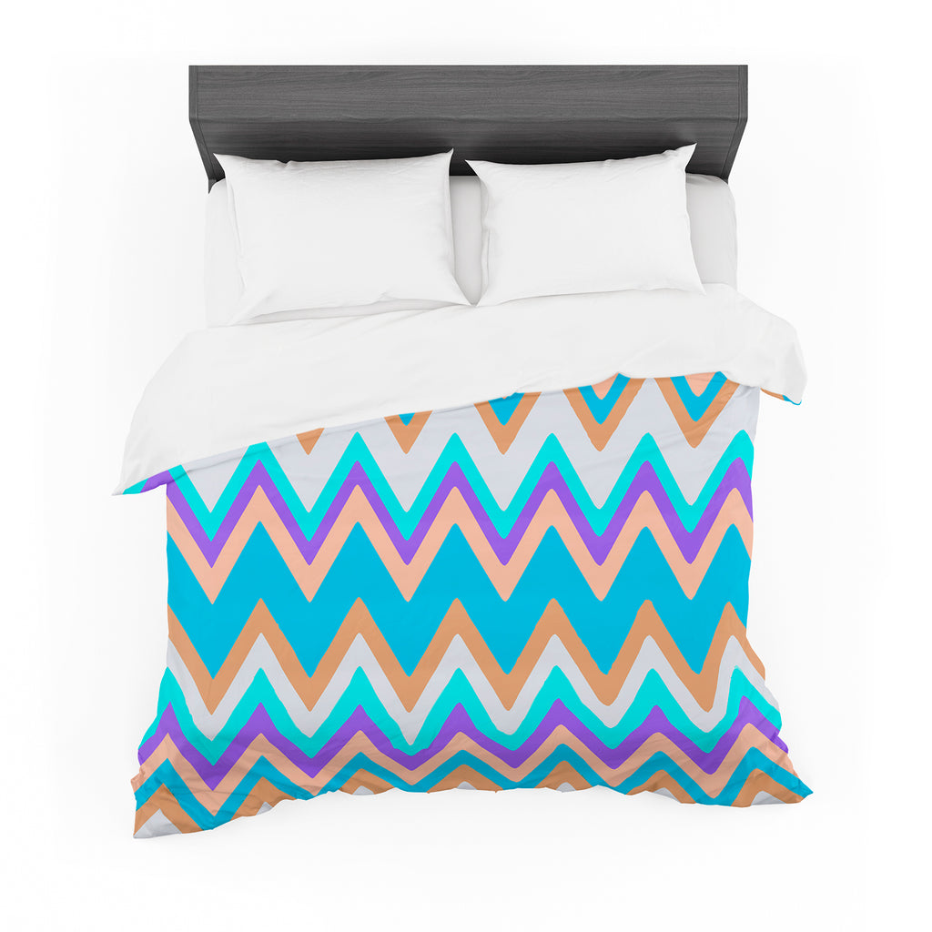 "Nika Martinez ""Girly Surf Chevron"" Cotton Duvet"