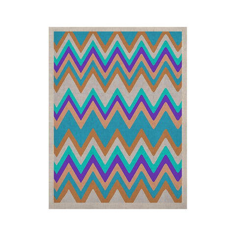 "Nika Martinez ""Girly Surf Chevron"" KESS Naturals Canvas (Frame not Included) - KESS InHouse  - 1"