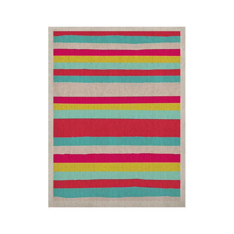 "Nika Martinez ""Girly Surf Stripes"" KESS Naturals Canvas (Frame not Included) - KESS InHouse  - 1"