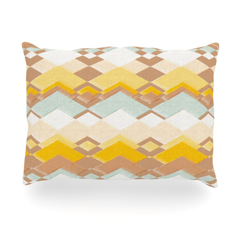 "Nika Martinez ""Retro Desert"" Oblong Pillow - KESS InHouse"