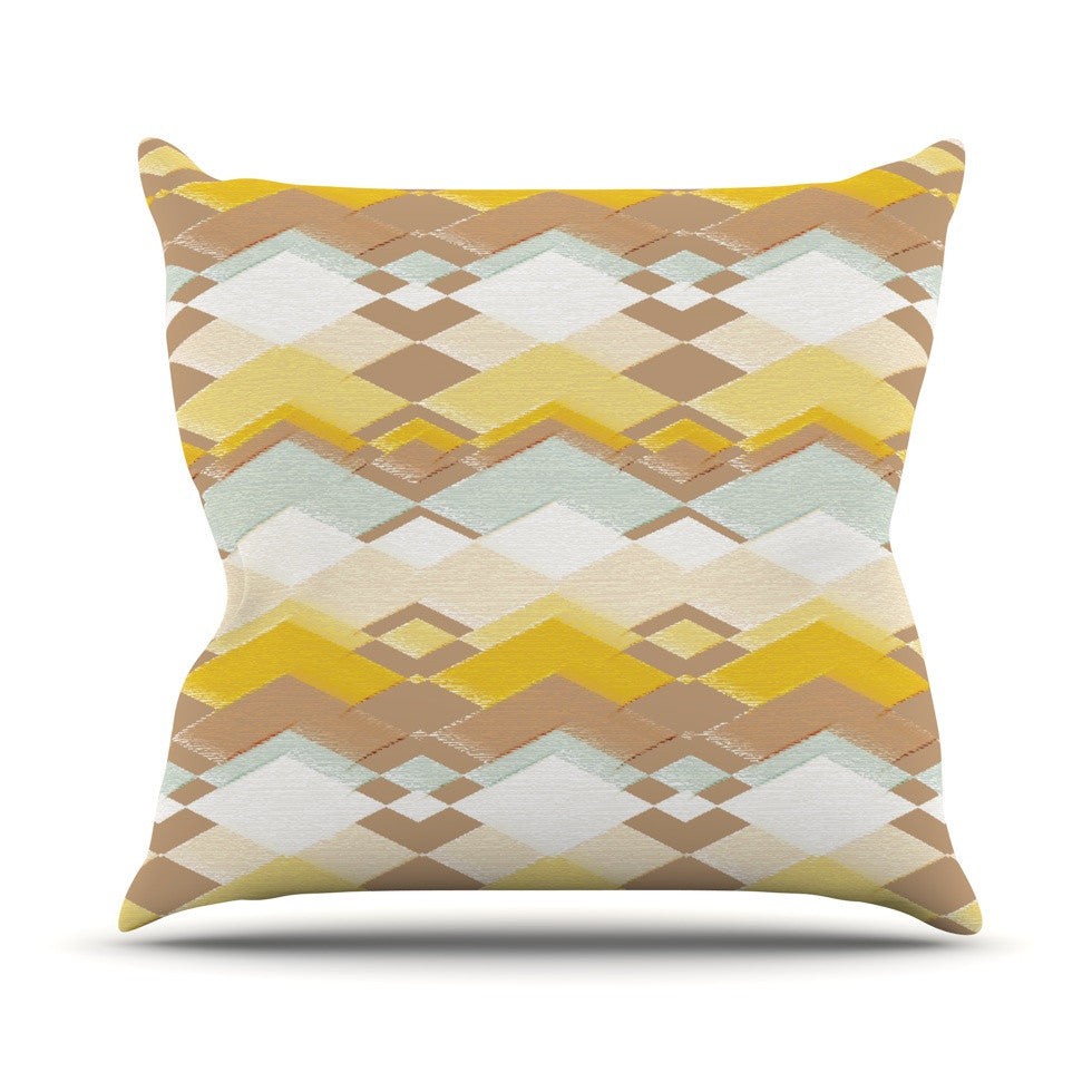"Nika Martinez ""Retro Desert"" Outdoor Throw Pillow - KESS InHouse  - 1"