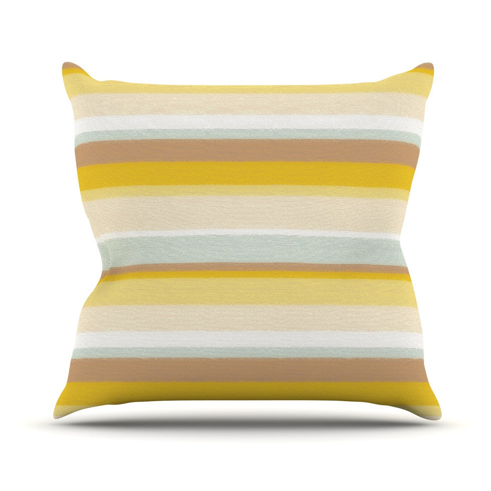 "Nika Martinez ""Desert Stripes"" Throw Pillow - KESS InHouse  - 1"