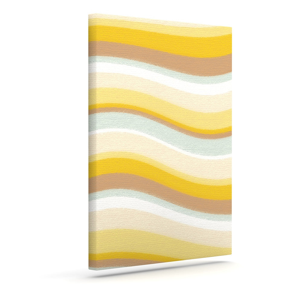 "Nika Martinez ""Desert Waves"" Outdoor Canvas Wall Art - KESS InHouse"