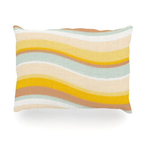 "Nika Martinez ""Desert Waves"" Oblong Pillow - KESS InHouse"
