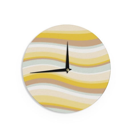 "Nika Martinez ""Desert Waves"" Wall Clock - KESS InHouse"