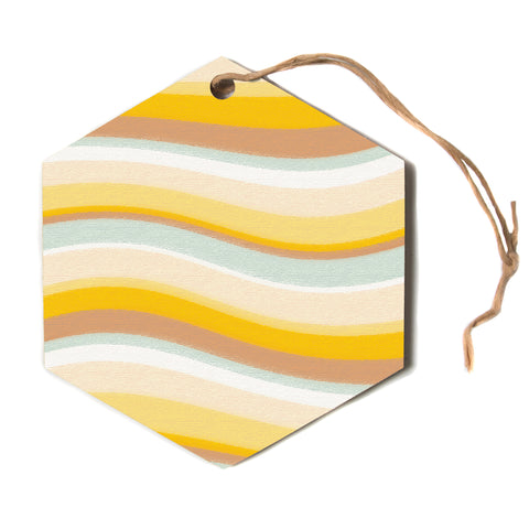 "Nika Martinez ""Desert Waves""  Hexagon Holiday Ornament"