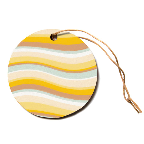 "Nika Martinez ""Desert Waves""  Circle Holiday Ornament"