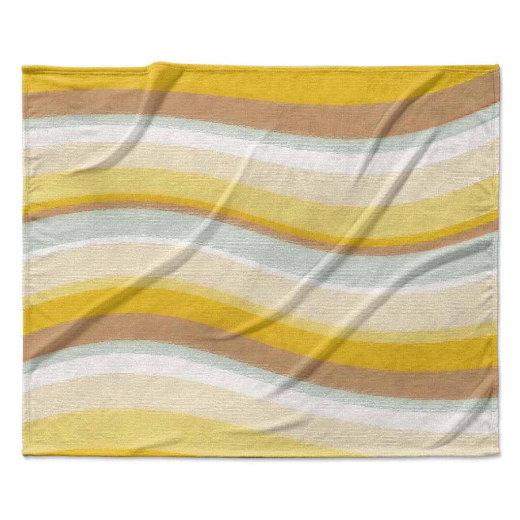 "Nika Martinez ""Desert Waves"" Fleece Throw Blanket"
