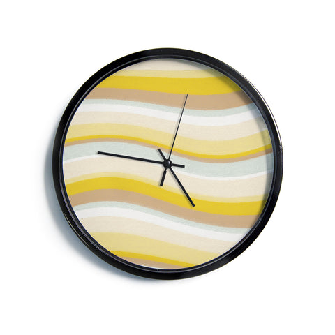 "Nika Martinez ""Desert Waves""  Modern Wall Clock"