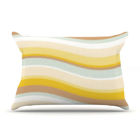 "Nika Martinez ""Desert Waves"" Pillow Sham - KESS InHouse"