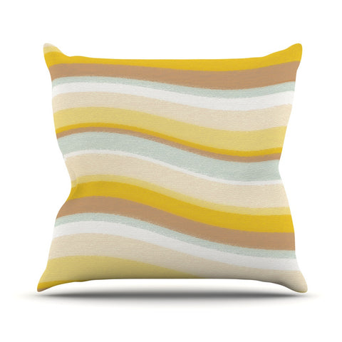 "Nika Martinez ""Desert Waves"" Throw Pillow - KESS InHouse  - 1"