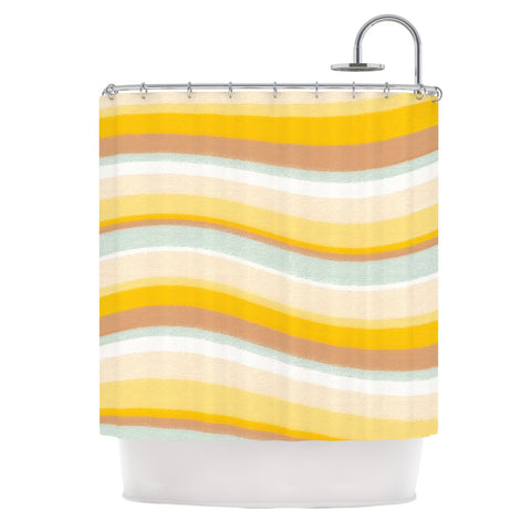 "Nika Martinez ""Desert Waves"" Shower Curtain - KESS InHouse"