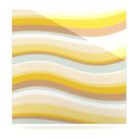 "Nika Martinez ""Desert Waves"" Luxe Square Panel - KESS InHouse  - 1"