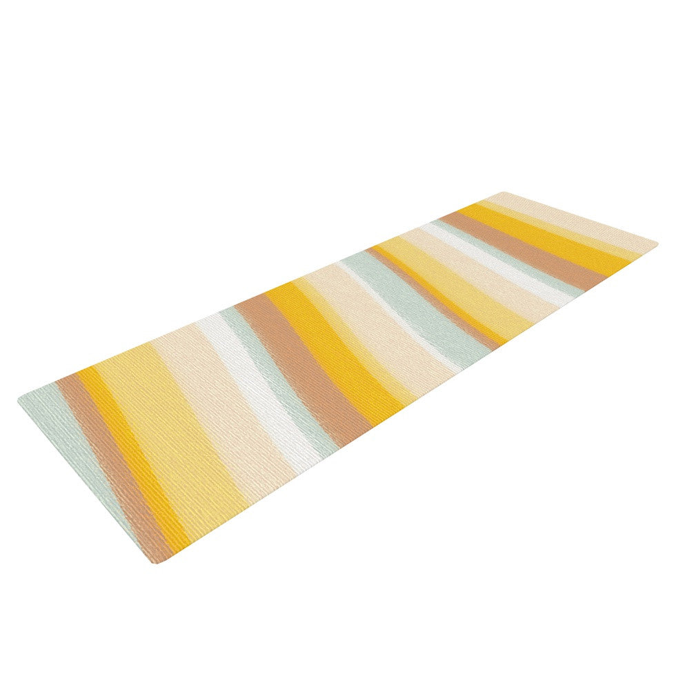 "Nika Martinez ""Desert Waves"" Yoga Mat - KESS InHouse  - 1"