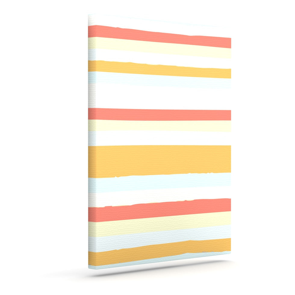 "Nika Martinez ""Sand Stripes"" Outdoor Canvas Wall Art - KESS InHouse  - 1"