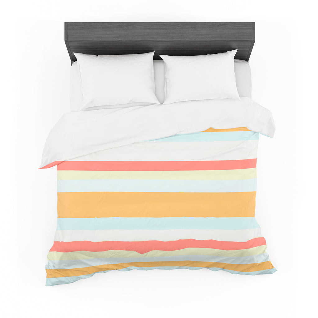 "Nika Martinez ""Sand Stripes"" Cotton Duvet"