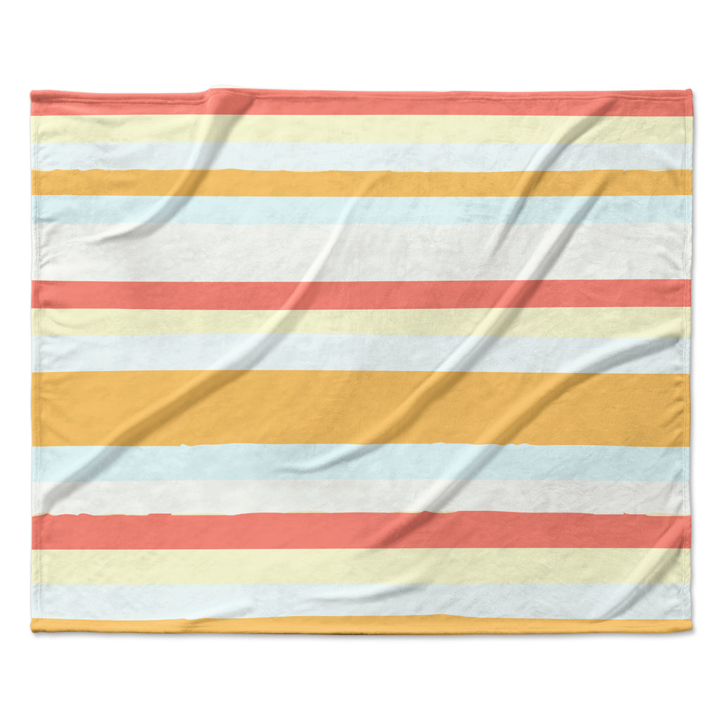 "Nika Martinez ""Sand Stripes"" Fleece Throw Blanket"